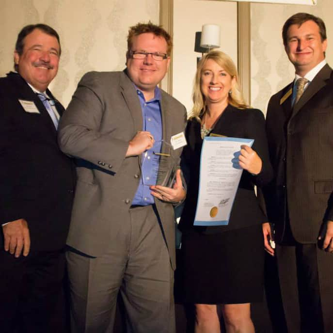 """Larry Meador and evok being recognized as one of """"Seminole County's Fastest Growing Companies"""" and for its """"Outstanding Contributions to Economic Growth in Seminole County"""""""
