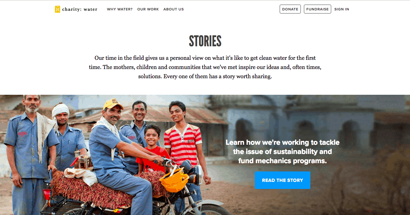 Charity Water Stories