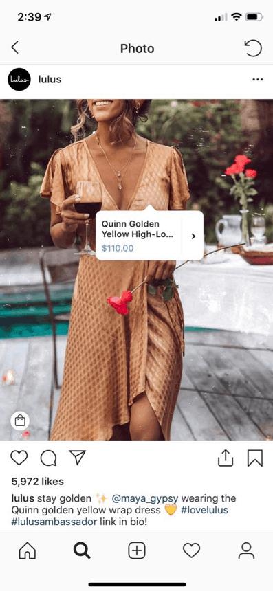Shoppable Social Media on Instagram
